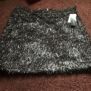 French connection tinsel skirt